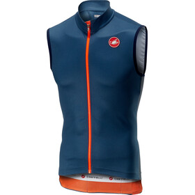 Castelli Entrata 3 FZ Sleeveless Jersey Men light steel/blue
